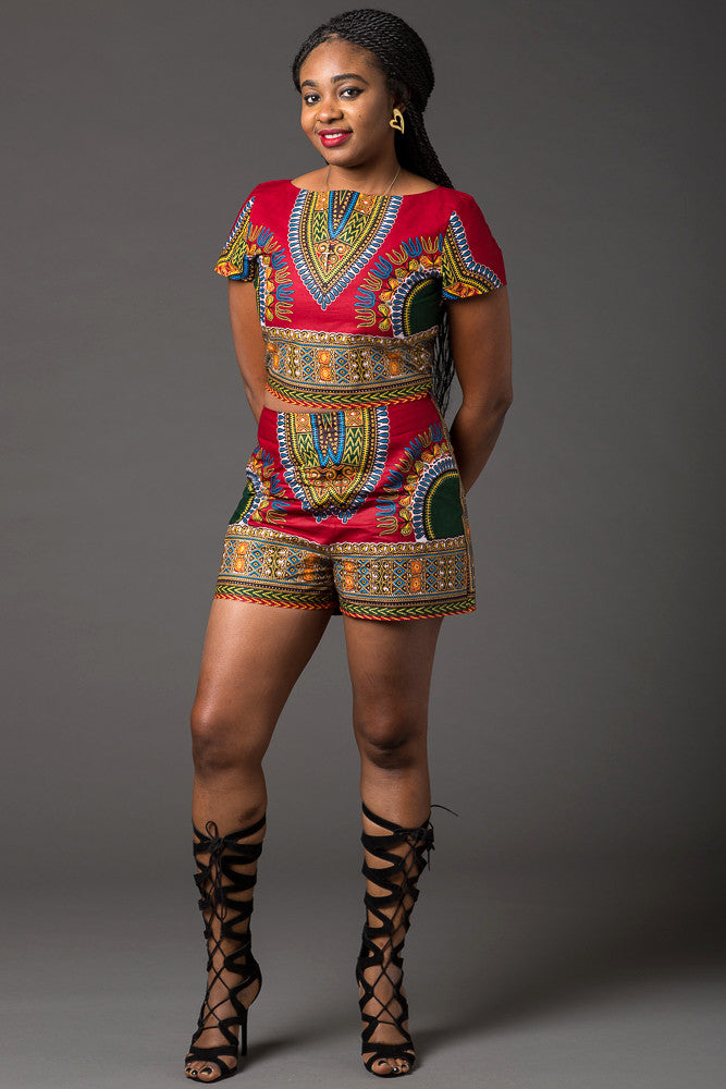 (Pre-Order) Dashiki short set - Ramona set