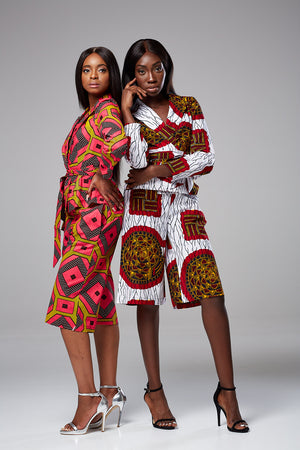 Ankara African Print Culotte and Blazer set Lisa