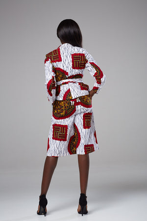 Copy of African Print Multicolored High Waist Culottes - Zelda