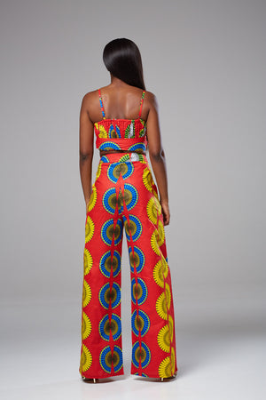 African Print High-waist Wide Leg Pants - Ivanna