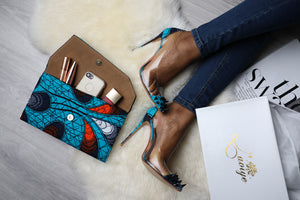 (Pre-Order, Ships in 3-4 Weeks) African Print High Heel Shoes Ankara VALENTINA PVC Pumps (12cm)