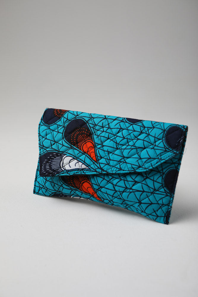 African Print Purse - VALENTINA Ankara Quilted Purse