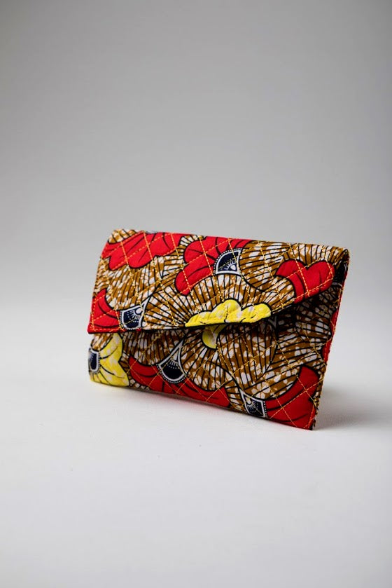 African Print Purse - ELENA Ankara Quilted Purse