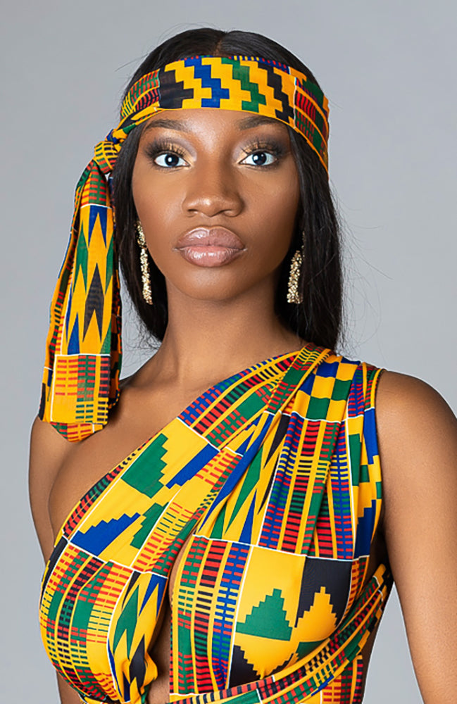 Stylish African Print Swimwear Headwrap - Mahalia