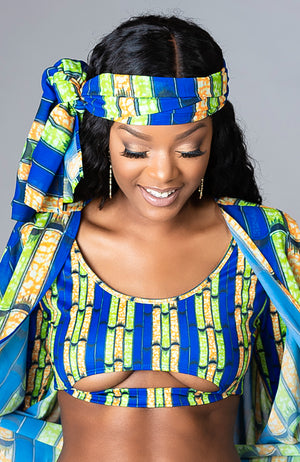 Stylish African Print Swimwear Headwrap - Zabrina