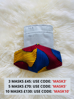 Ankara African Print Face Mask With Filter Pocket | LYDIA