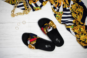 Laviye african print slippers