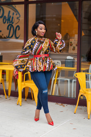 african blouse
