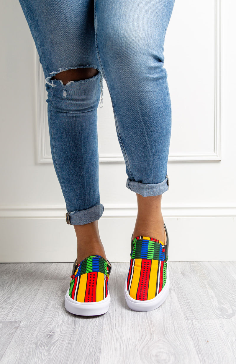 African Print Women Slip-on Shoes