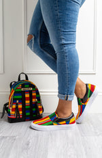 Kente African Print Women Casual Slip-on Trainer Sneaker - VICTORIA