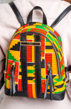 African Print Woman Backpack