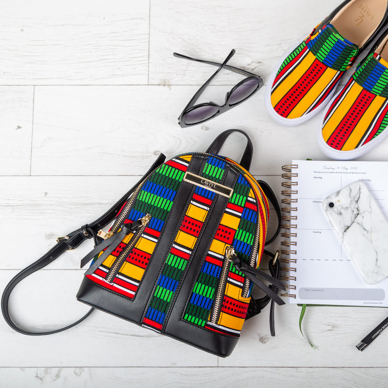 African Backpack - African Fashion Ladies Casual Backpack - VICTORIA