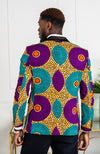 African Attire Jacket for Men - Tailored Fit Shawl Collar African Men Blazer - PETER
