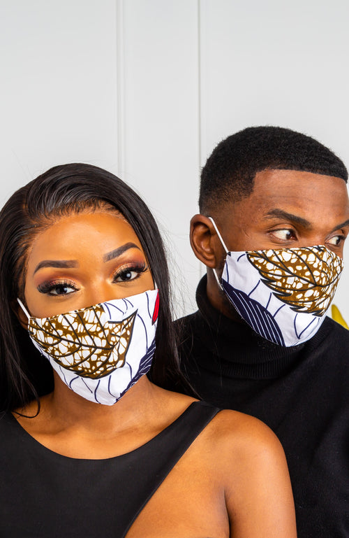 African Print Face Mask With Filter Pocket | KAYLA