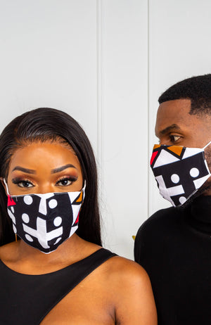 Ankara African Print Face Masks | LAVIYE Face Mask with Filter Pocket | KATRINA