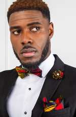 Multi-colored African Cotton Lapel Flower Pin - LANDO