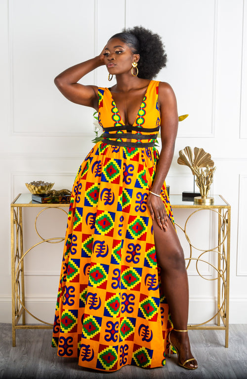 African Dress with One Shoulder African Clothing Elegant Dress for Women Ankara Midi Dress for Party African Fashion