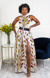 African Clothing for Women - Sleeveless Turtleneck Maxi Dress - PAMELA