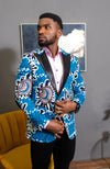 Men African Fashion - Tailored Fit Shawl Collar African Print Blazer for Men - GERALD