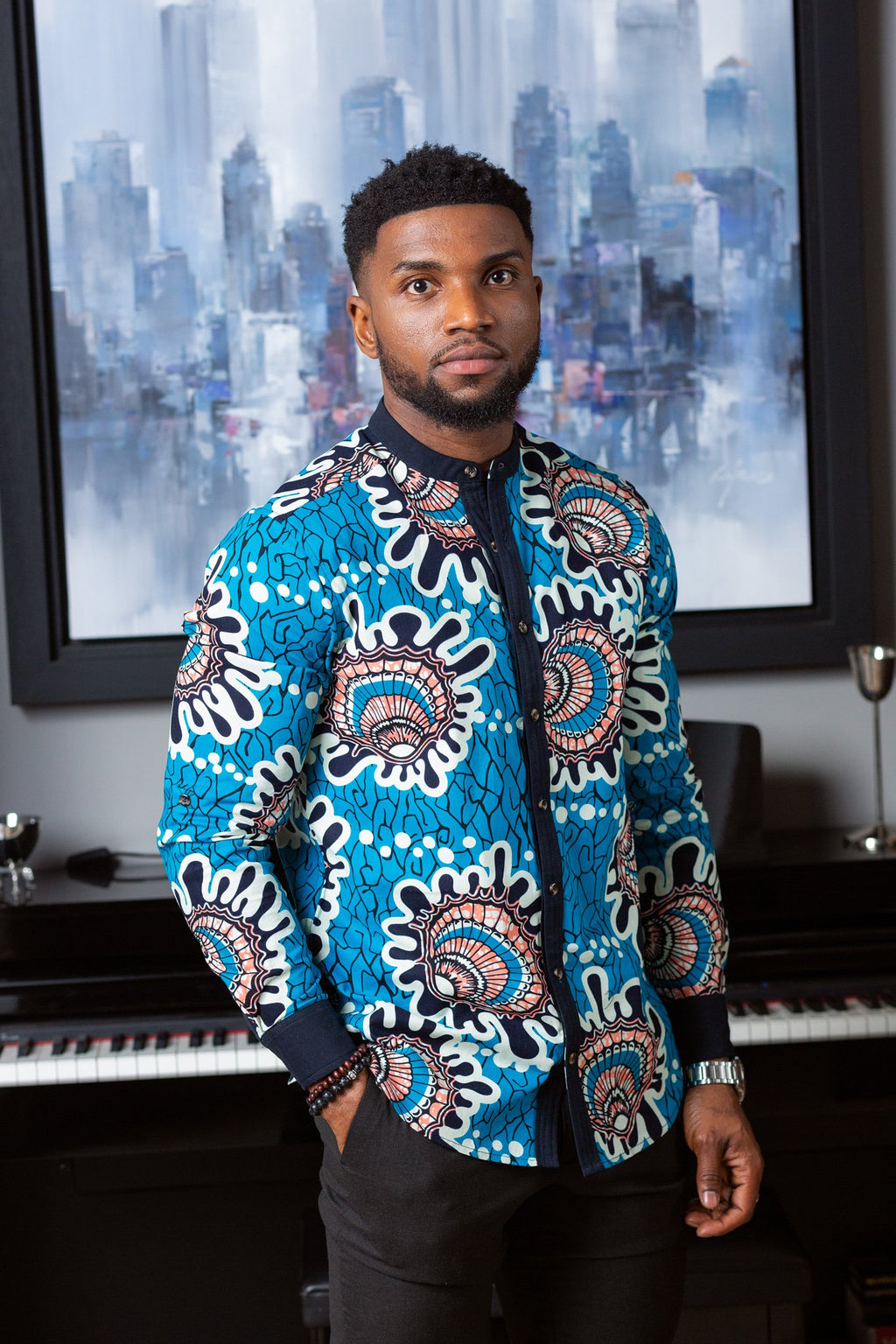 Smart Casual Men's African Shirt L'AVIYE