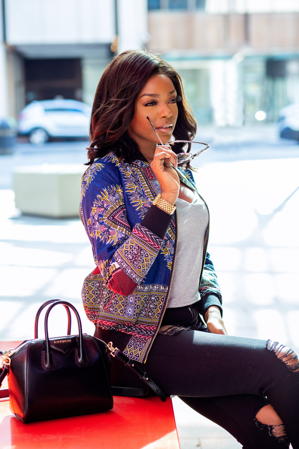 african print jacket