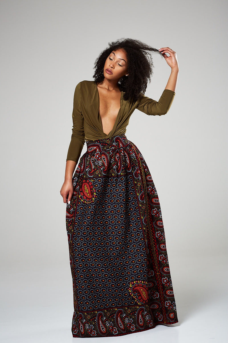 African maxi skirt with pockets - Darcia