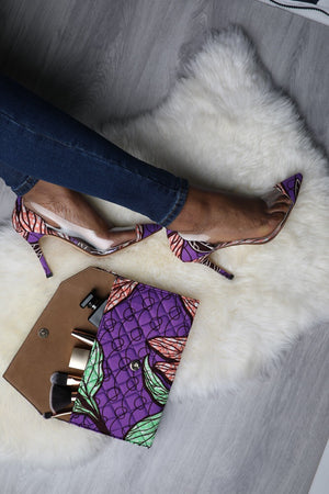 (Pre-Order, Ships in 3-4 Weeks) African Print Shoes CORA PVC Stiletto Heels (100cm)