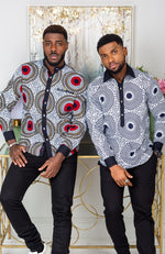 African Shirts for Men | Mens African Shirt - Mens Long-sleeve Polo - Alexander