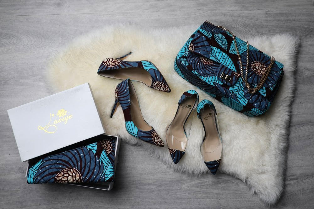 (Pre-Order, Ships in 3-4 Weeks) African Print Shoes - GIANNA Ankara Pumps (100mm)