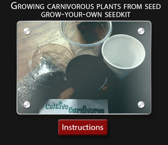 Cultivo Carnivores instruction sheet  How to grow your own carnivorous plants from seed kit