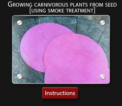 Cultivo Carnivores instruction sheet  How to grow your own carnivorous plants smoke treatment