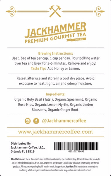 Jackhammer Detox Tea - Caffeine Free, 28 Day Supply