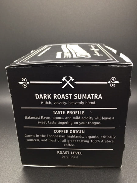 Dark Roast Sumatra, 10 Single-Serve Cups Compatible With Keurig K-cup Brewers.   Free Shipping!