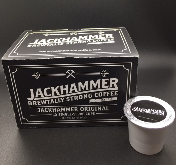 Jackhammer Original High Voltage Organic Coffee, 10 Single-Serve Cups Compatible With Keurig K-cup Brewers. Free Shipping!