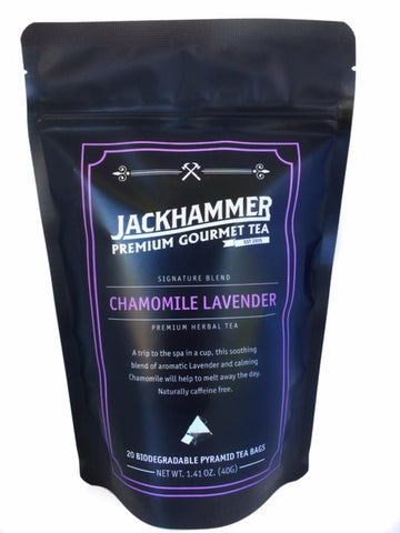 Jackhammer Chamomile Lavender Organic Tea, 20 - 1 oz. Single Serve Teabags