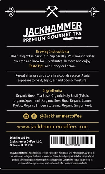 Jackhammer Detox Tea with Caffeine, 28 Day Supply