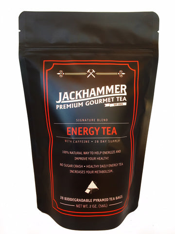 Jackhammer Energy Tea with Caffeine, 28 Day Supply