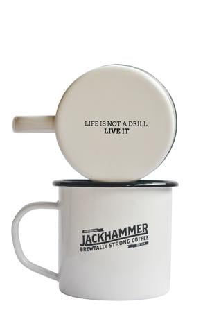 JACKHAMMER High Voltage Original & French Roast Coffee Mug Set, Whole Bean, 1 LB - Free Shipping!