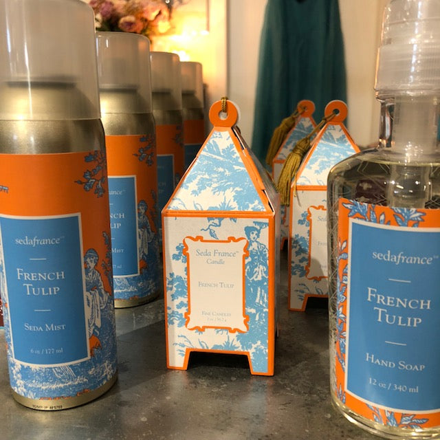 Seda France French Tulip candles, diffuseurs, room sprays and liquid hand soap for the perfect Christmas gift - only $39