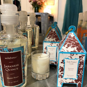 Seda France Japanese Quince candles, diffuseurs, room sprays and liquid hand soap for the perfect Christmas gift - only $39