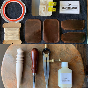 DIY Leather Card Holder - Dark Brown