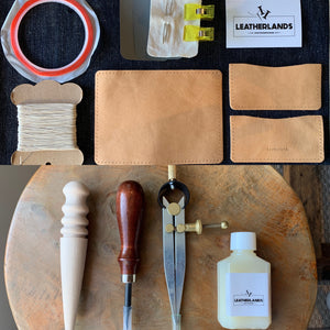 DIY Leather Business Card Holder (2slots) - Natural Tan