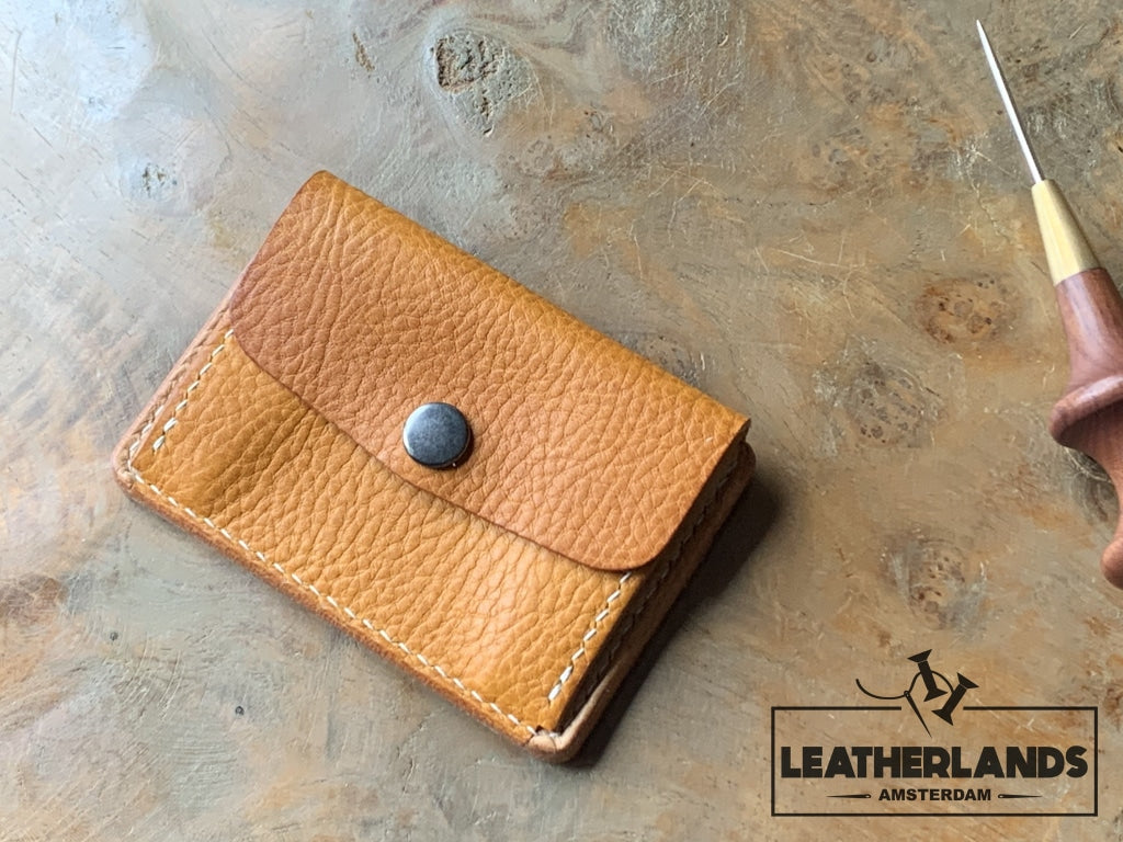 Coin Pouch Card Wallet In Natural & Ocra
