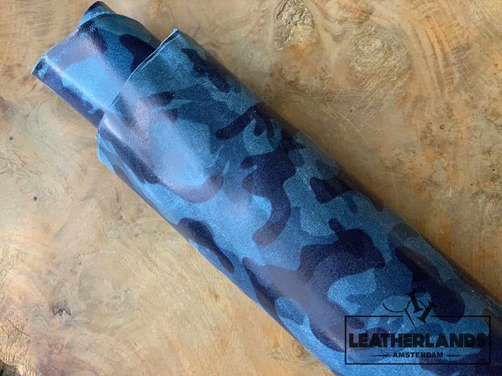 Leather - Camo Blue