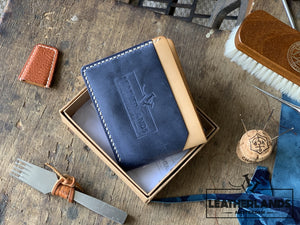 The Billfold In Navy & Natural Handstitched