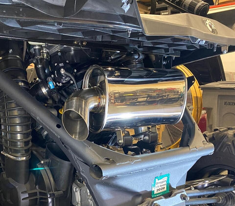 "Treal Can-Am X3 ""Trail"" Side Exit Exhaust 
