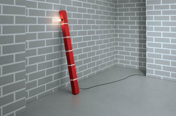 Red Brick Lamp No.1  - Memphis Milano
