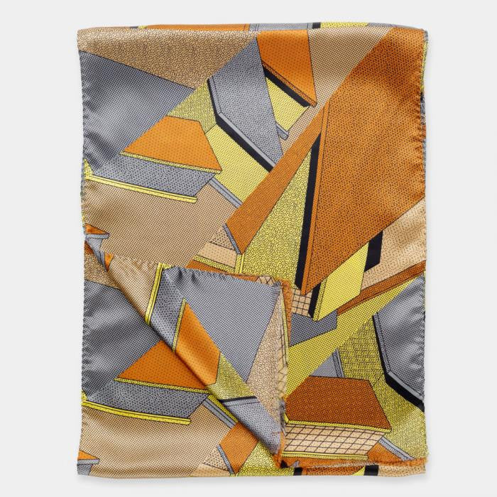 Yellow-Brown Scarf - Memphis Milano