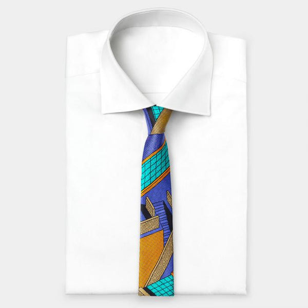 Light Blue-Russet Tie - Memphis Milano