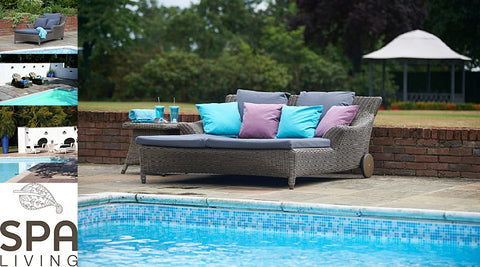 Pool loungers from Spa Living www.spaliving.co.uk